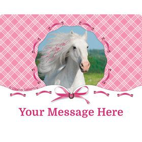 Heart My Horse Personalized Rectangular Stickers (Sheet of 15)