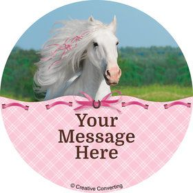 Heart My Horse Personalized Stickers (Sheet of 12)