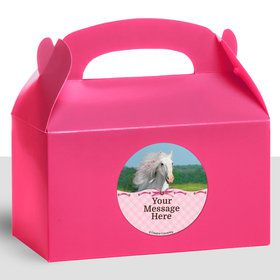 Heart My Horse Personalized Treat Favor Boxes (12 Count)
