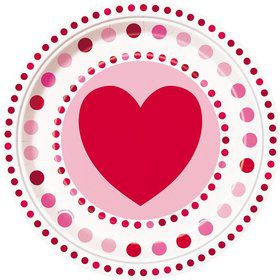 "Hearts 9"" Luncheon Plates (8 Pack)"