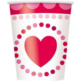 Hearts 9oz Cups (8 Pack)
