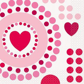 Hearts Luncheon Napkins (16 Pack)