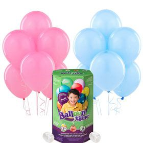 Helium Tank with Pink and Blue Balloons