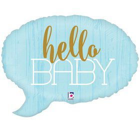 "Hello Baby Blue 24"" Foil Balloon"