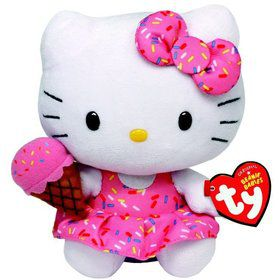 "Hello Kitty 8"" TY Beanie Baby (Each)"
