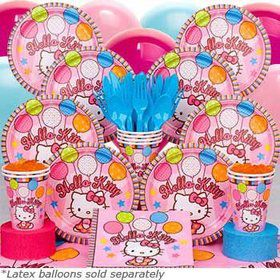 Hello Kitty Birthday Party Deluxe Tableware Kit Serves 8