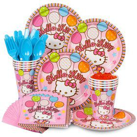 Hello Kitty Birthday Party Standard Tableware Kit Serves 8