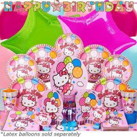 Hello Kitty Birthday Party Ultimate Tableware Kit Serves 8