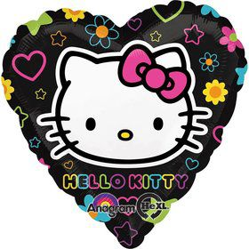 "Hello Kitty Foil Heart 18"" Balloon (Each)"