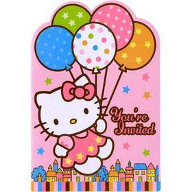 Hello Kitty Invitations (8-pack)