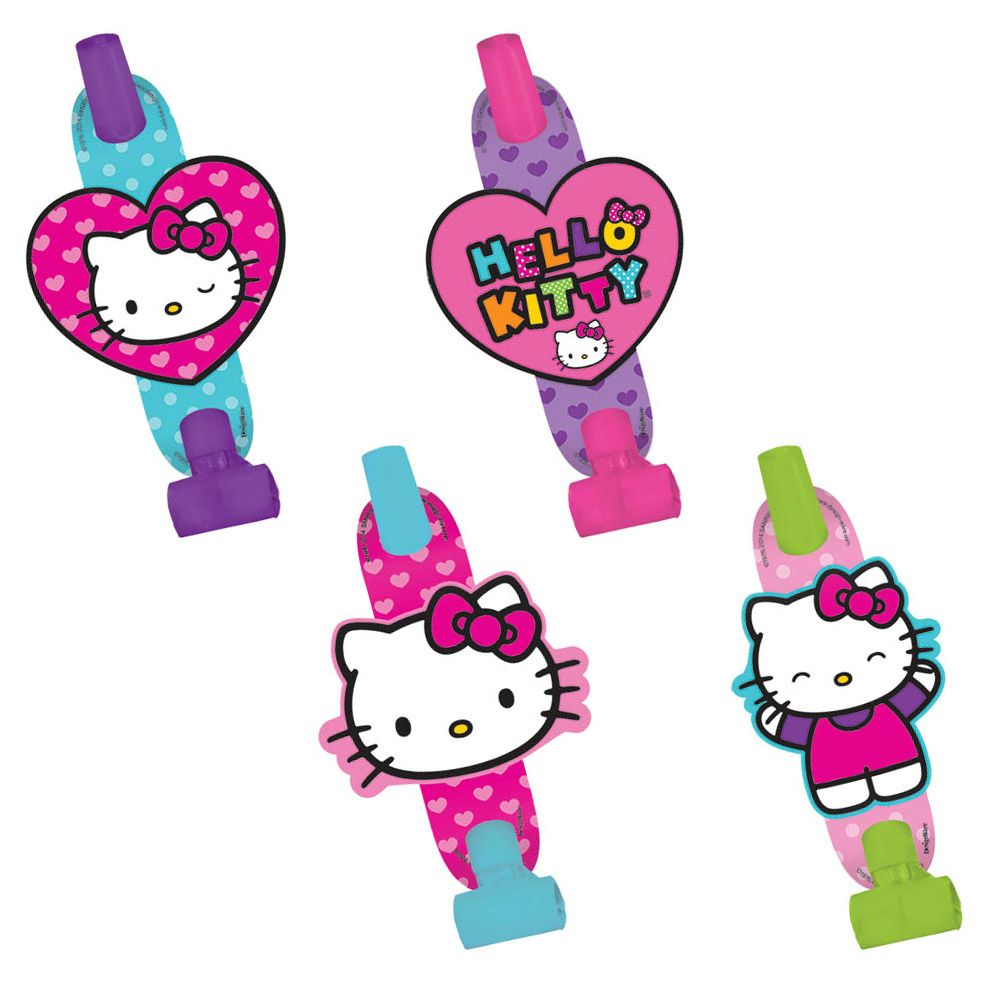 "Hello Kitty Rainbow 5"" Blowouts (8 Pack) BB331417"
