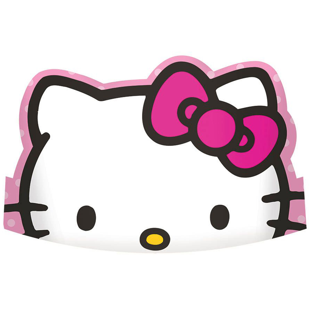 "Hello Kitty Rainbow 6"" Paper Tiaras (8 Pack) BB251417"