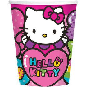 Hello Kitty Rainbow 9oz Cups (8 Pack)