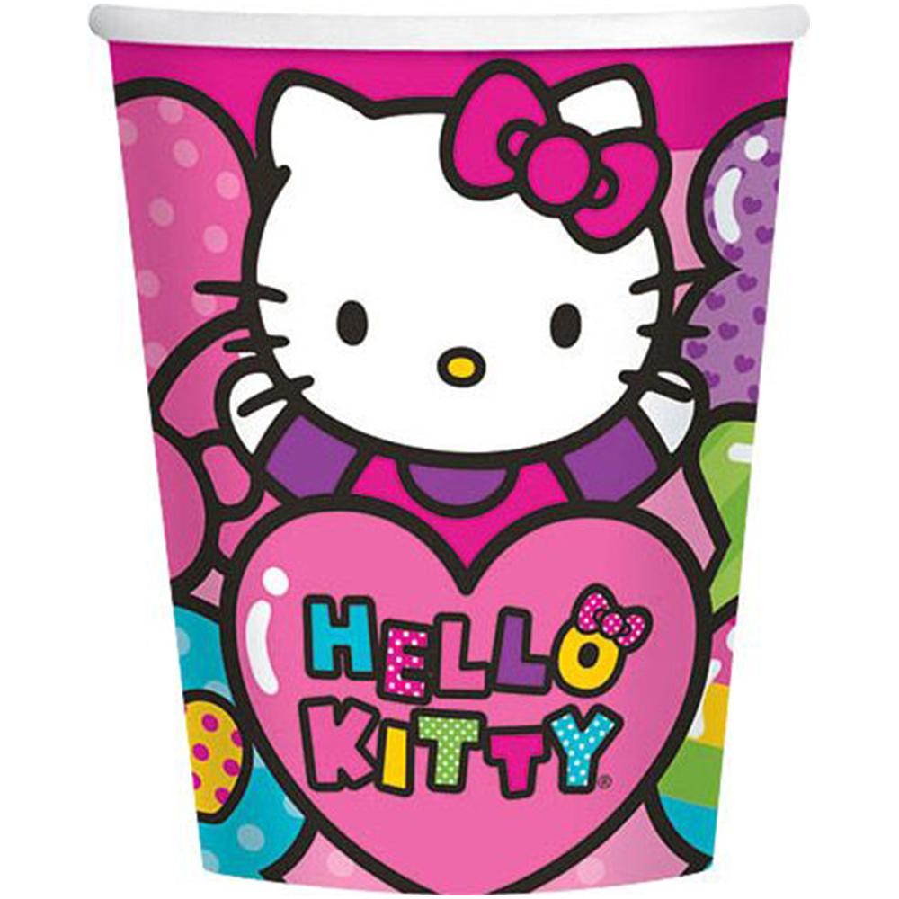 Hello Kitty Rainbow 9oz Cups (8 Pack) - Party Supplies BB581417