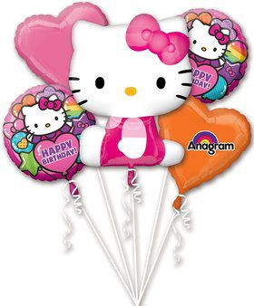 Hello Kitty Rainbow Balloon Bouquet (Each)