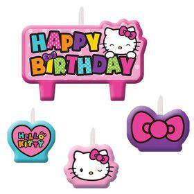 Hello Kitty Rainbow Candle Set (4 Pack)