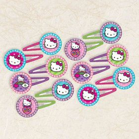Hello Kitty Rainbow Glitter Hair Clip Favors (12 Pack)