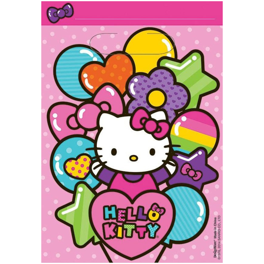 Hello Kitty Rainbow Loot Favor Bags (8 Pack) BB371417