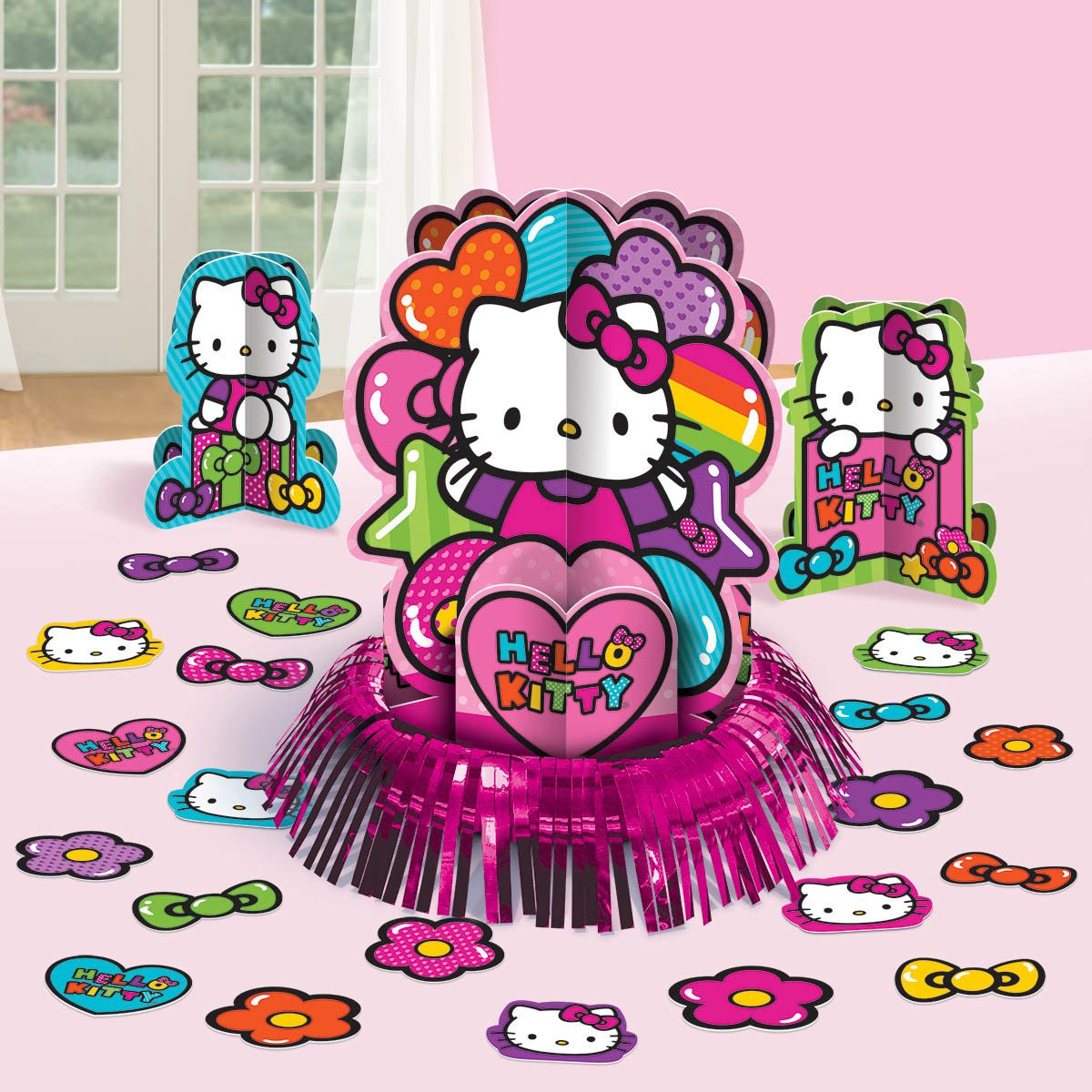Hello Kitty Rainbow Table Decorating Kit (Each) - Party Supplies BB281417