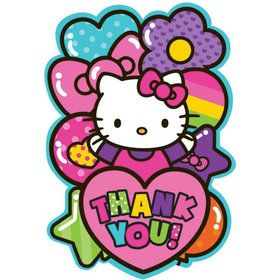 Hello Kitty Rainbow Thank You Cards (8 Pack)