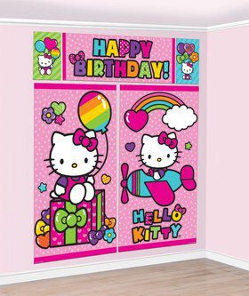 Hello Kitty Rainbow Wall Decorating Set (Each)