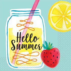 Hello Summer Lemonade Beverage Napkin (16)