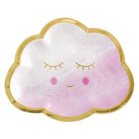 Hello World Girl Cloud Shaped Plates (8)
