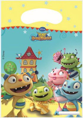 Henry Hugglemonster Rectangular Party Bags (6 Pack)