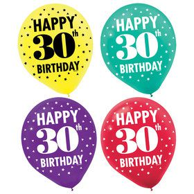 Here's to Your 30th Birthday Printed Balloons (15)