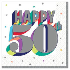 Here's to Your 50th Birthday Lunch Napkins (16)