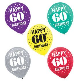 Here's to Your 60th Birthday Printed Balloons (15)