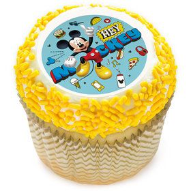 "Hey Mickey 2"" Edible Cupcake Topper (12 Images)"