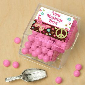 Hippie Chick Personalized Candy Bin with Candy Scoop (10 Count)