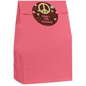 Hippie Chick Personalized Favor Bag (Set Of 12)