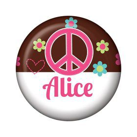 Hippie Chick Personalized Mini Button (each)