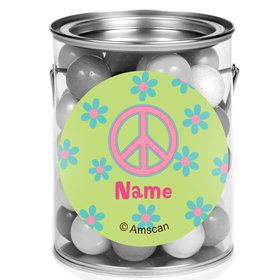 Hippie Chick Personalized Mini Paint Cans (12 Count)