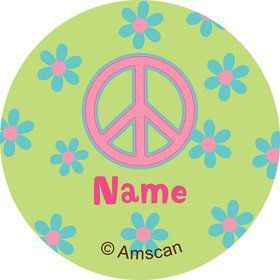Hippie Chick Personalized Mini Stickers (Sheet of 24)