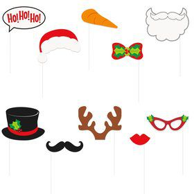 Ho Ho Ho Christmas Photo Booth Props