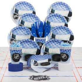 Hockey NHL Birthday Party Deluxe Tableware Kit Serves 8