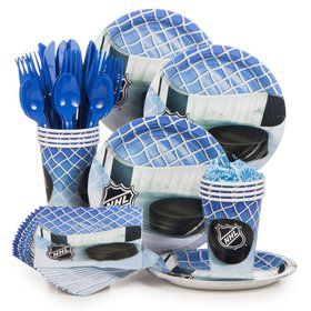 Hockey NHL Birthday Party Standard Tableware Kit Serves 8