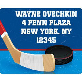 Hockey Party Personalized Address Labels (sheet of 15)