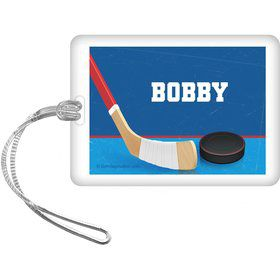 Hockey Party Personalized Bag Tag (each)