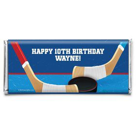 Hockey Party Personalized Candy Bar Wrapper (Each)