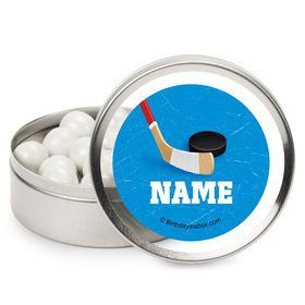 Hockey Party Personalized Candy Tins (12 Pack)