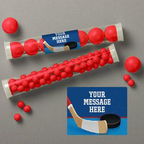 Hockey Party Personalized Candy Tubes (12 Count)