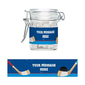 Hockey Party Personalized Glass Apothecary Jars (10 Count)
