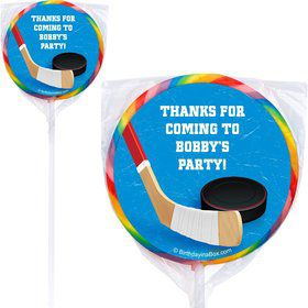 Hockey Party Personalized Lollipop (pack of 12)