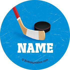 Hockey Party Personalized Mini Stickers (Sheet of 20)