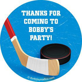 Hockey Party Personalized Sticker (sheet of 12)
