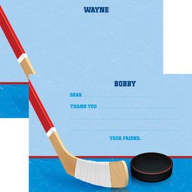 Hockey Party Personalized Thank You Note